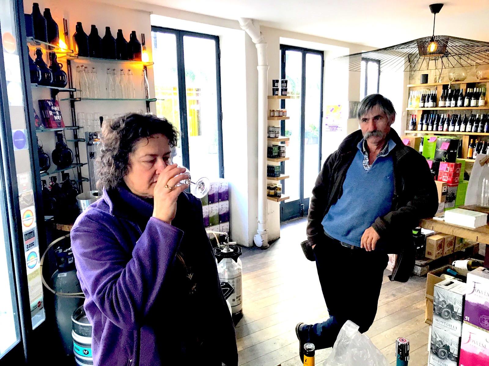 Dégustation Sylvie Spielmann & Jean-Claude Rateau chez En vrac